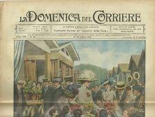 La Domenica del Corriere 12 - 19 Luglio 1910 Arrivo del Giro d'Italia a Milano