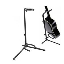 New  Acoustic Electric Bass Guitar Column Stand Holder +U Stand Holder Black