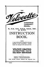 1931 Velocette K KS KN KNS KSS KTT instruction book