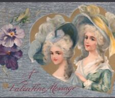 VALENTINE'S DAY..ELEGANT COLONIAL LADIES WITH FASHIONABLE HATS,WINSCH,POSTCARD