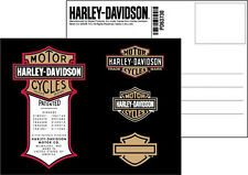 HARLEY DAVIDSON Patent Original  DECAL  5.25  INCH  DECAL