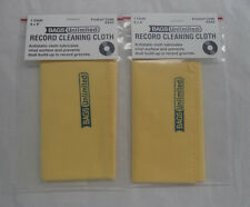 Vinyl Record Cleaning Cloths, Antistatic 8 x 9 Pack of 2 NEW IN BAG (Cleaner)