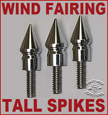 3 TALL CHROME SPIKE FAIRING BOLTS FOR 2014-2016 HARLEY STREET & ELECTRA GLIDE