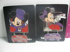 Disneyland Tokyo Pin Disney Mickey Minnie Mouse Halloween 2001 NEW on Cards