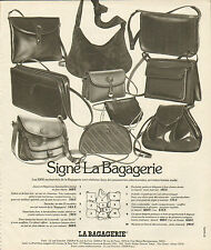 Publicité 1978  LA BAGAGERIE sac à main bagage collection cuir mode