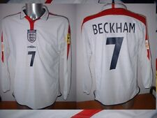 England David Beckham Man Utd Football Soccer Shirt Jersey Uniform UMBRO XXL L/S