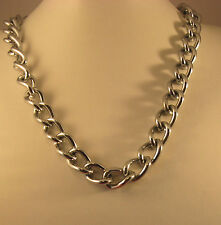 Chrome Colored metal necklace chain - Heavy