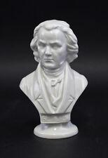 Porcelaine Buste Beethoven blanc Émaillé Wagner & Apel Thuringe, allemagne