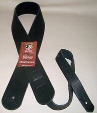 "Soft Thick American Bison Buffalo LAKOTA LEATHERS Guitar Bass Strap BLACK 2"" USA"