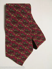 "Men's ""Leaping Lizards"" Tie 100% Silk Neckties Natura Serial #ES 001-012"