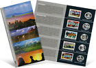 USPS State Quarters and Stamps Portfolio (MT, WA, ID, WY, UT)