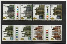 GB 1978 Historic Buildings traffic light gutter pairs MNH. Unfolded stamps.