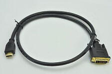 HDMI To DVI DVI-D Male to HDMI Male Cable For PC to LCD LED TV Display 3Ft 1080p