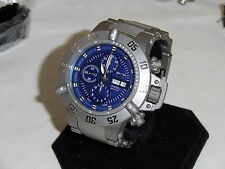 New Invicta 11051 Subaqua Titanium Swiss Automatic Chronograph Blue Dial Watch