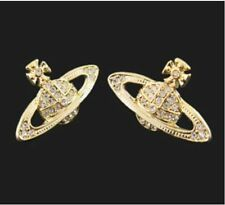 new Vivienne Westwood Gold Color Saturn @Earrings