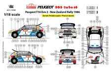 [FFSMC Productions] Decals 1/18 Peugeot 205 Turbo 16, Nouvelle Zélande 1986