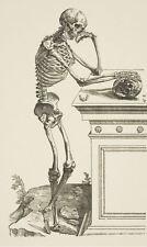 Encadrée Imprimer-Squelette Humain debout et pensée (photo vintage Medical Art