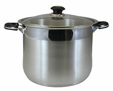 CONCORD 24 QT Commercial Grade Heavy Stainless Steel Stock Pot. Stockpot Tri-Ply