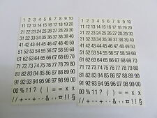 Small 5mm Black on White Labels, Consecutive Sequential Numbering Stickers 3721