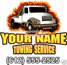 "Salvage Tow Truck Custom Vinyl Decal 24"" Towing Business Trade Hauling"