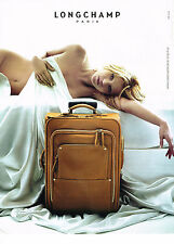 PUBLICITE  2006   LONGCHAMP  collection bagages KATE MOSS