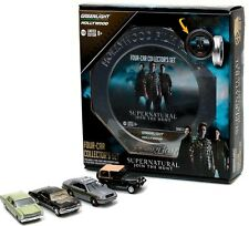 Greenlight 1/64 Supernatural Film Reels 4 Car Set - Police Car, Jeep ++