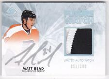 MATT READ RC 2011-12 SP AUTHENTIC LIMITED 2 COLOR PATCH AUTO #051/100 FLYERS