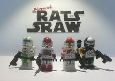 Lego Star Wars minifigures - Clone Custom Troopers - Commando Delta Squad