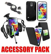 ACCESSORY BUNDLE KIT FOR SAMSUNG GALAXY S5 MINI + CASE CAR HOLDER CHARGER