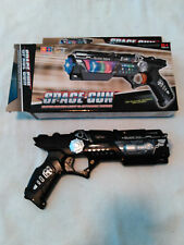 Space Toy plastic BLACK ICE battery operated Toy Gun Sound Lights #999S-7= 10 OZ