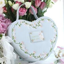 Sweet Girl Lady Lolita Plant Embroidered Handbag Heart Messenger Shoulder Bag