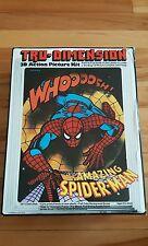 Spiderman tru-dimension ,3d action picture kit 1976