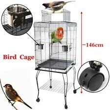 Parrot Pet Budgie Canary Aviary Macaw Bird Cage Open Top for Medium Large Bird