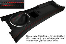 RED STITCH CENTRE CONSOLE & GEAR GAITER SKIN COVERS FITS MAZDA MX5 MK3 05-13