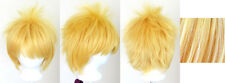 13'' Spiky Short Golden Blonde Synthetic Cosplay Wig NEW