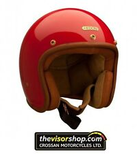 "HEDON ""HEDONIST"" Open Face Motorcycle Helmet - ROUGE Red - Small S 55-56cm"