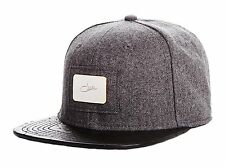 Cazal Legends Ostrich Buckleback Snapback Hat Light Grey/Black in Satin Pouch NW