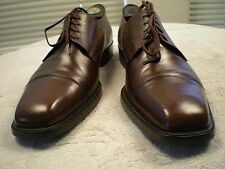 ANTONIO MAURIZI Brown All Leather Made In Italy Oxfords Sz EU 41 US 8 D