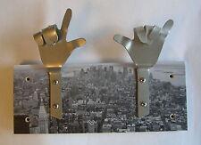 METAL DANDIE HANDS New York City Scape Bag Coat hook hanging Rack