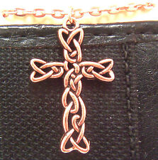 "Copper Pendant Cross 18"" Chain Necklace Wheeler Healing Arithitis Pain 162"