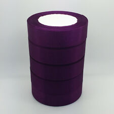 "New 5 Yards 1"" 25mm Purple Bulk Satin Ribbon DIY Craft sewing Supplies crafts NA"