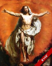 THE ASCENTION OF LORD JESUS PAINTING CHRISTIAN BIBLE HISTORY ART CANVAS PRINT