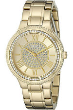 GUESS W0637L2,Ladies Dress,Stainless Steel,Gold-Tone,Crystal Accented Bezel