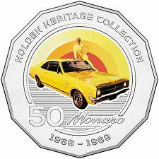 2016 RAM 50c UNCIRCULATED COLOURED COIN HOLDEN HERITAGE COLLECTION HK MONARO