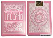 Tally Ho Pink Deck Reverse Circle Back Limited Edition Playing Cards
