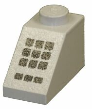 Missing Lego Brick 3040p32 OldGray Slope Brick 45 2 x 1 with 9 + 3 Black Buttons