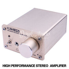 Dual input Headphone Amplifier Audio PC HiFi Stereo amp Headset splitter