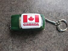 MINI COOPER CAR KEY RING  CANADIAN FLAG