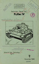 WWII British Technology Reports on German Tank and Vehicles 1942-44