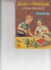 Vintage 1956 A Wish For Billy Reader and Workbook Children's Booklet